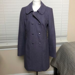 Lavender mid length peacoat